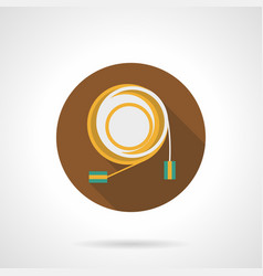 audio cable flat round icon vector image vector image