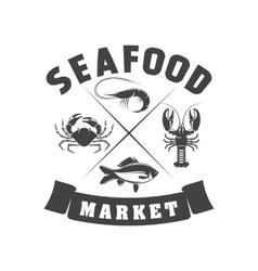 badge Seafood vector image