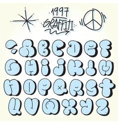 Graffiti bubble font vector image