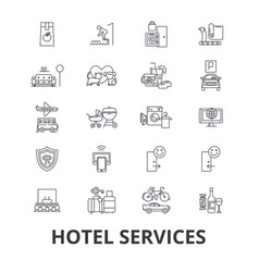 hotel services room service tourism vector image