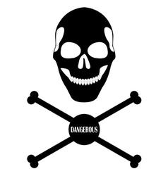 human skull and bones vector image vector image
