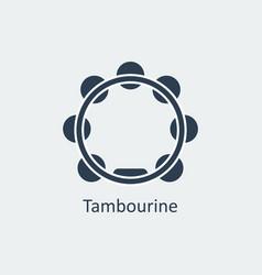 tambourine icon silhouette icon vector image vector image