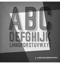 Old film noir styled alphabet vector image