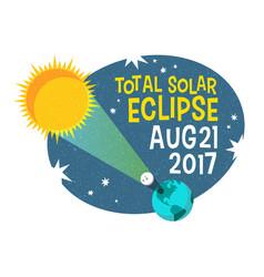 retro science of the solar eclipse vector image vector image