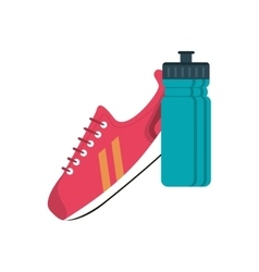 sneaker and sports bottle icon vector image vector image