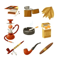 Tobacco Icons Set vector image