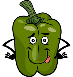 cute green pepper cartoon vector image vector image