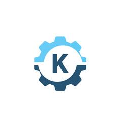 gear solution logo initial k vector image