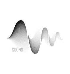 music sound waves halftone vector image