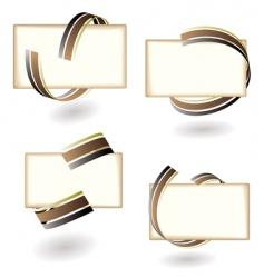 paper ribbon vector image vector image