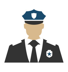 police officer elements of the police equipment vector image