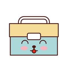 Tool box kawaii character vector