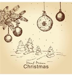 vintage christmas set vector image