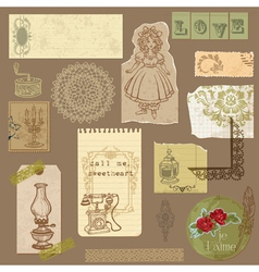 vintage ornamental elements vector image vector image