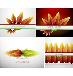 Autumn background set vector image vector image