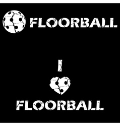 Floorball text for logo the team and the cup vector image vector image