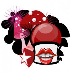 mushroom cartoon vector image vector image