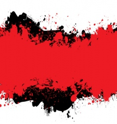 red n black ink vector image vector image