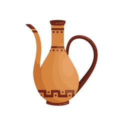 ancient greek clay amphora with spout and handle vector image