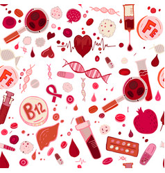 Anemia doodle pattern vector