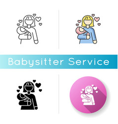 Babylover icon parenthood and motherhood woman vector