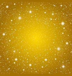 Background Golden starry sky Eps 10 vector