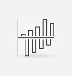 bar chart linear concept icon vector image