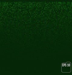 Binary code green neon glow matrix volume effect vector