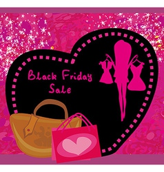 Black Friday sale card vector image