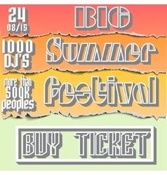Brochure flyerposter for summer festival vector