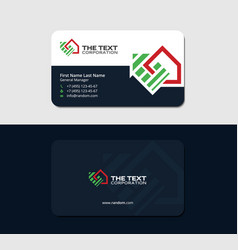 Business card for lease and property management vector