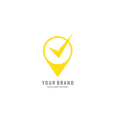 check location logo vector image