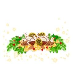 Christmas decoration white poinsettia vector