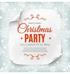 Christmas party poster template vector