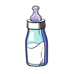 color sketch baby bottle vector image