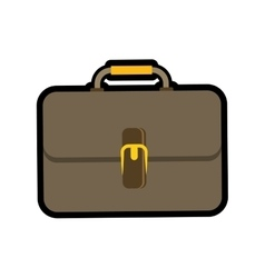 Colorfull suitcase icon Bag design vector image