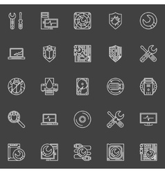 Computer repair icons vector