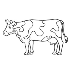 cow animal farm ico vector image