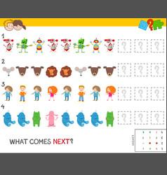 Educational pattern task for children vector