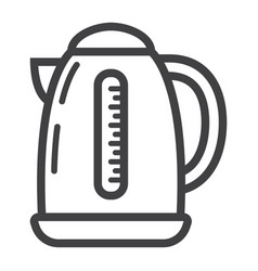 electric kettle line icon kitchen and appliance vector image