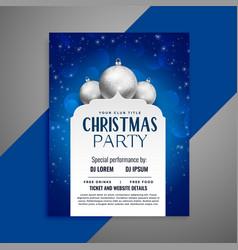elegant invitation christmas flyer design template vector image