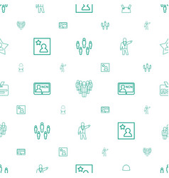 employee icons pattern seamless white background vector image