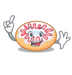 Finger jelly donut mascot cartoon vector