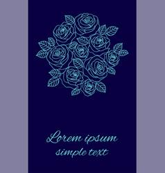 Floral design for wedding invitations vector