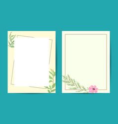 floral elegant botanical card design vector image