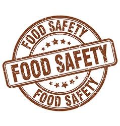 Food safety brown grunge round vintage rubber vector