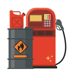 Gas fuel station vector