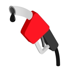 Gasoline pump nozzle isometric icon vector