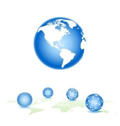 global spheres vector image