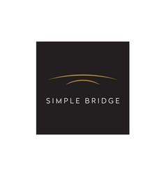 golden arch river bridge simple minimalist logo vector image